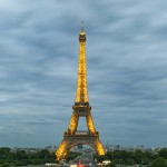 eiffel tower, night view, paris